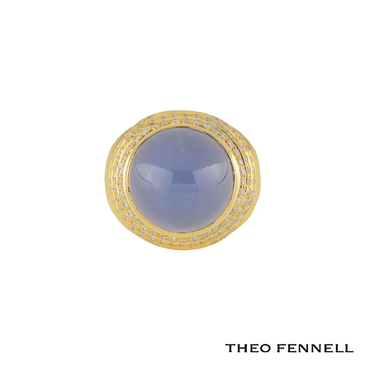 Theo Fennell Diamond and Moonstone Dress Ring